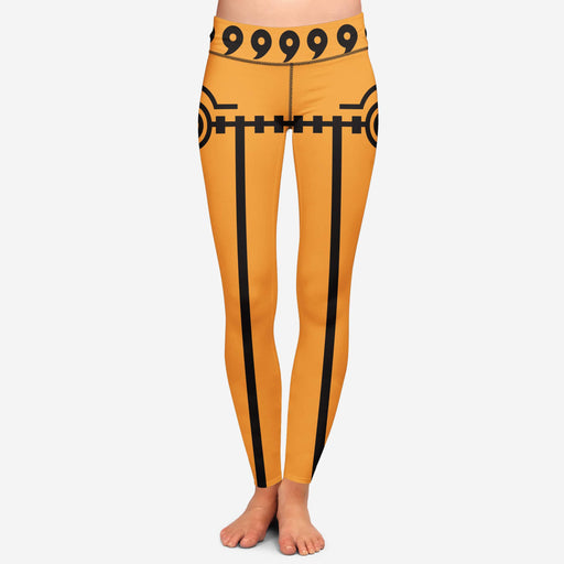 Naruto Uzumaki Orange Costume Yoga Pants Cosplay Leggings