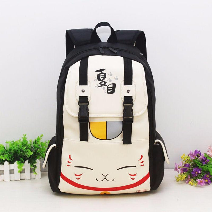 Natsume Yuujinchou Cat Kawaii School Laptop Bag Backpack - Konoha Stuff - 1
