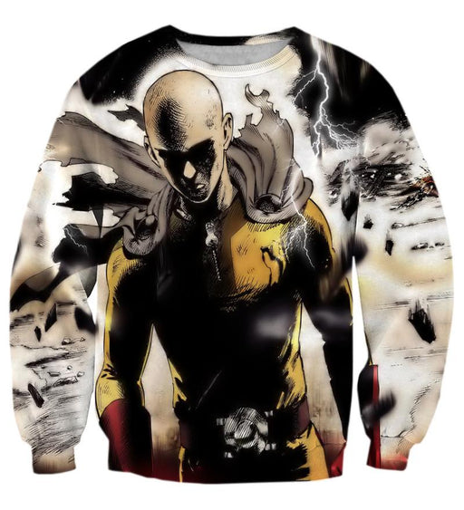 One-Punch Man Anime Saitama Lightning Dark 3D Cool Sweatshirt - Konoha Stuff