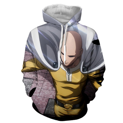 One-Punch Man Extraordinary Saitama Caped Baldy Hero Hoodie