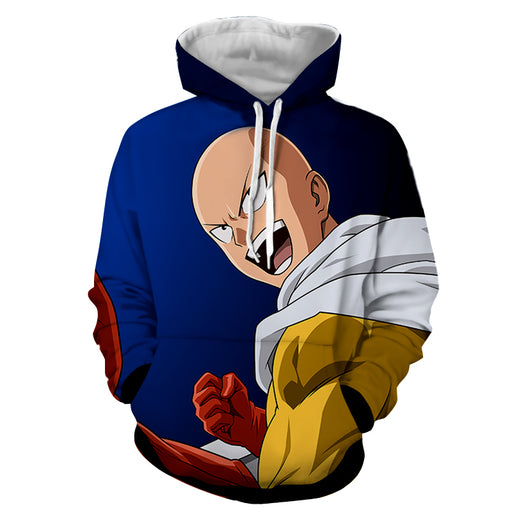 One-Punch Man Funny Hilarious Saitama Bald Cape Hero Hoodie