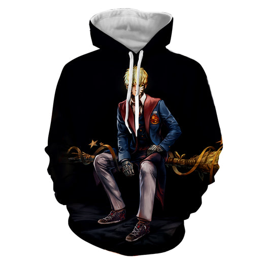 One-Punch Man Genos Cyborg Harry Potter Cosplay Black Hoodie