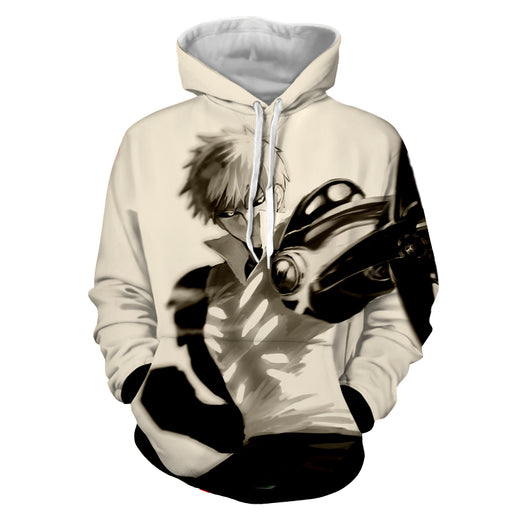 One-Punch Man Genos Strong Incineration Cannons White Hoodie