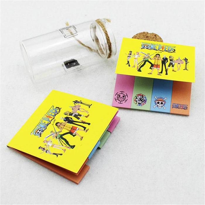 One Piece Awesome Anime Captain Luffy Pirate Crew Colorful Sticky Notes - Konoha Stuff