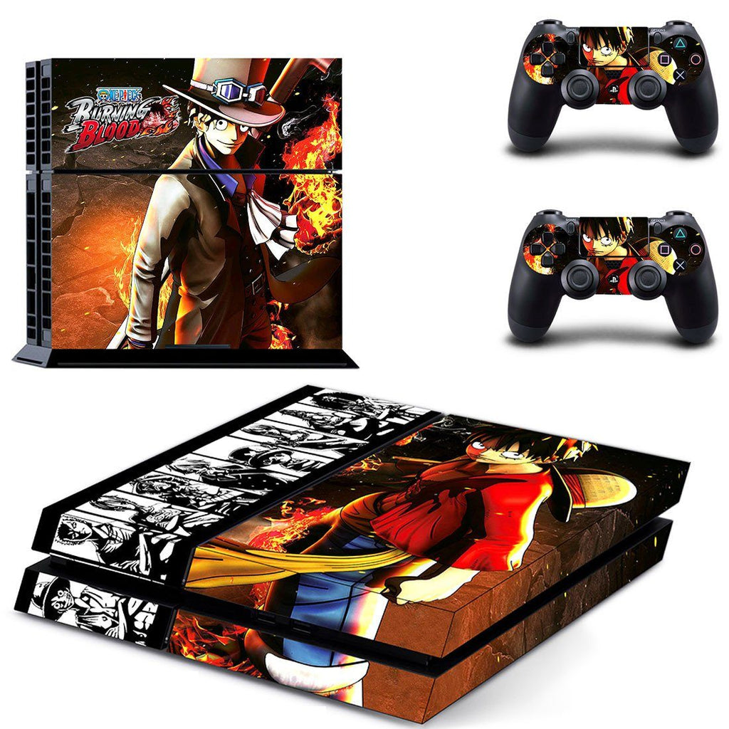 One Piece Burning Blood Game PS4 HD Console Controllers Skin Decal - Konoha Stuff