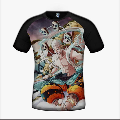 One Piece Enel God Skypiea Villian Character Color Vibrant Design T-Shirt