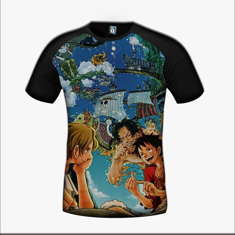 One Piece Luffy Ace Sabo Brotherhood Friendship Great Color Trending Design T-Shirt