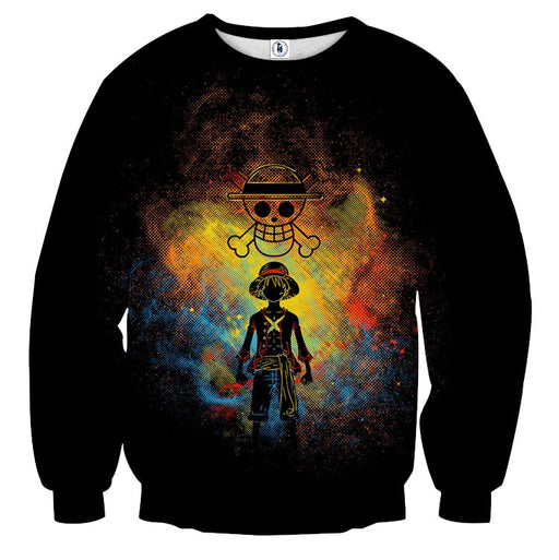 One Piece Luffy Straw Hat Pirate Crew Symbol Skull Sweatshirt