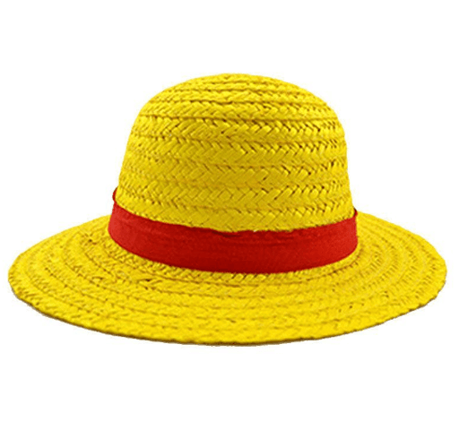 One Piece Luffy Straw Hat Pirates King Cosplay Yellow Beach Cap - Konoha Stuff
