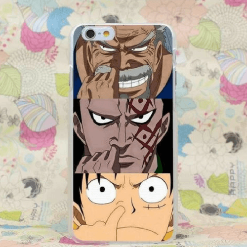 One Piece Luffy's Grandfather and Father Imitation iPhone 4 5 6 7 Plus Case
