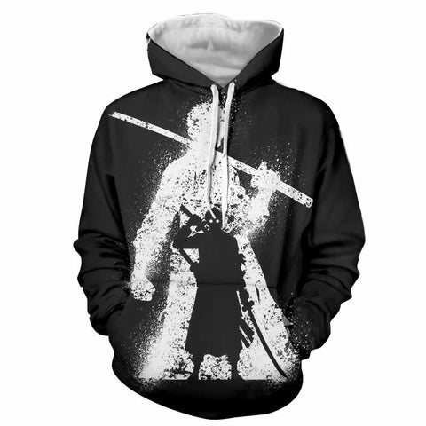 One Piece Roronoa Zoro Shadow Black White Concept Trending Hoodie