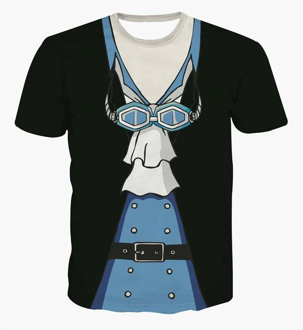 One Piece Sabo Black Outfit Costume Skin 3D Cosplay T-shirt - Konoha Stuff - 1