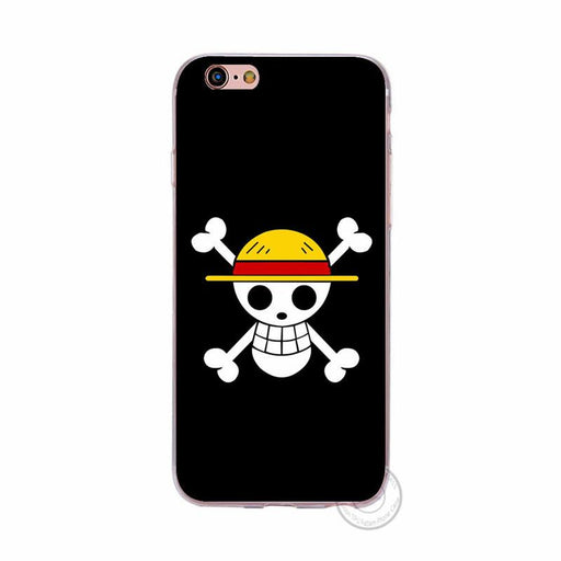 One Piece Skull Crossbones Black Jolly Roger Case Apple iPhone 5 6 7 S Plus - Konoha Stuff