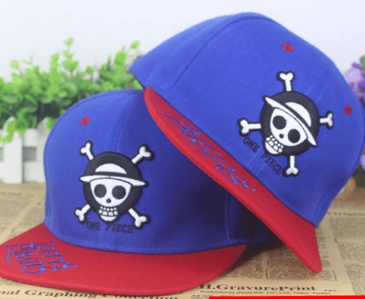 One Piece Skull Jolly Roger Luffy Pirates Embroidery Hip Hop Hat Cap Snapback - Konoha Stuff