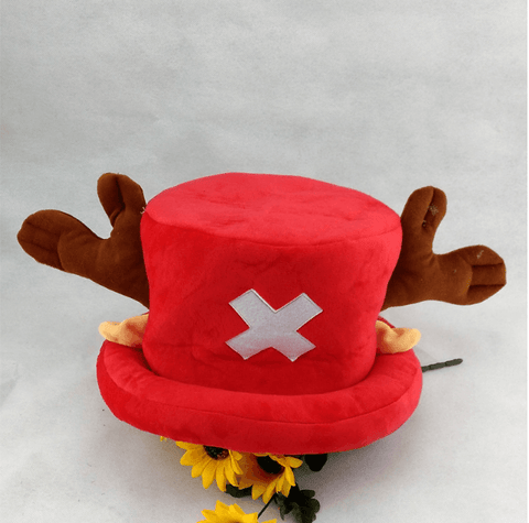 One Piece Tony Tony Chopper Cosplay Red Reindeer Beanie Hat - Konoha Stuff - 1