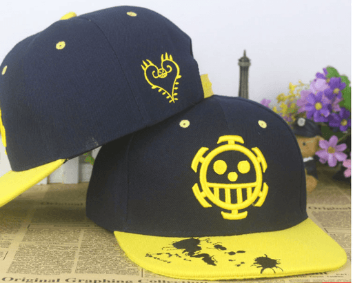 One Piece Trafalgar D. Water Law Skull Hip Hop Hat Cap Snapback - Konoha Stuff