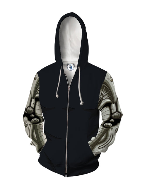One Punch Man Genos 2nd Gear Body Suit Cosplay Zip Up Hoodie