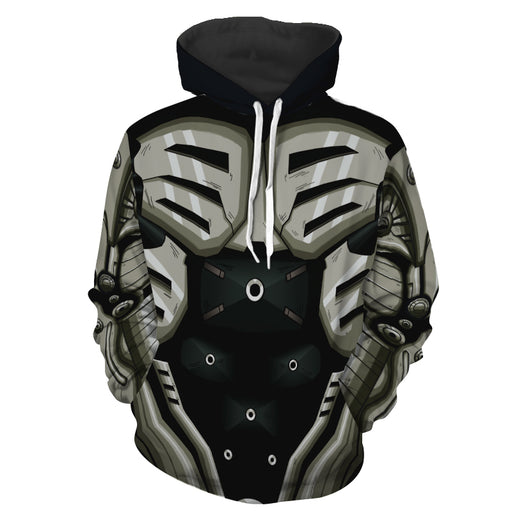One Punch Man Genos 2nd Gear Cyborg Body 3D Cosplay Hoodie