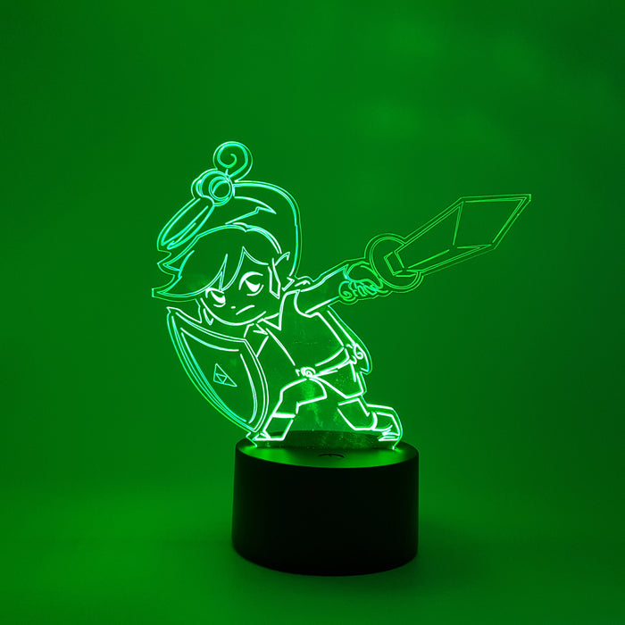 The Legends Of Zelda Link Elf Color Changing 3D Illusion Acrylic Lamp