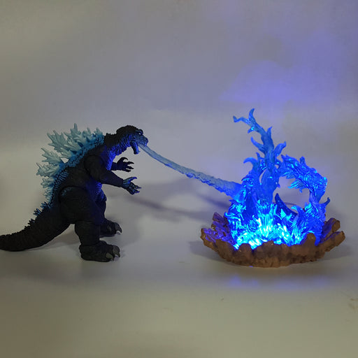 Godzilla Mutated Dinosaur Cannon Power Blue Fire DIY 3D Light Lamp