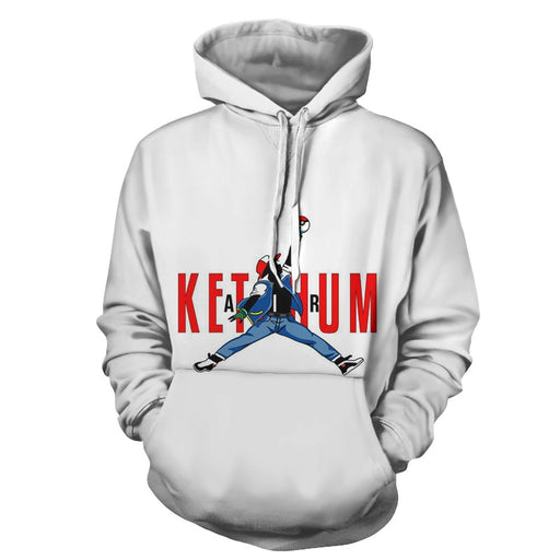 Pokemon Ash Ketchum Nice Air Nike Design White Jacket Hoodie