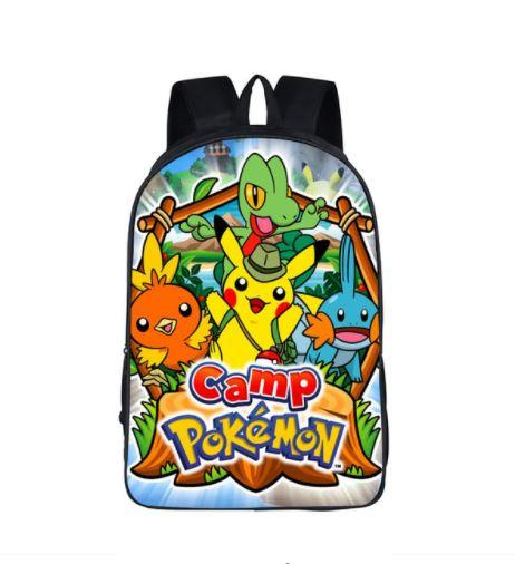 Pokemon Camp Pikachu Treeco Torchic School Bag Backpack