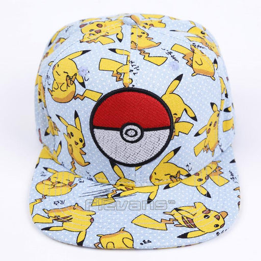 Pokémon Cartoon Pikachu Polka Dotted Blue Streetwear Baseball Cap - Konoha Stuff
