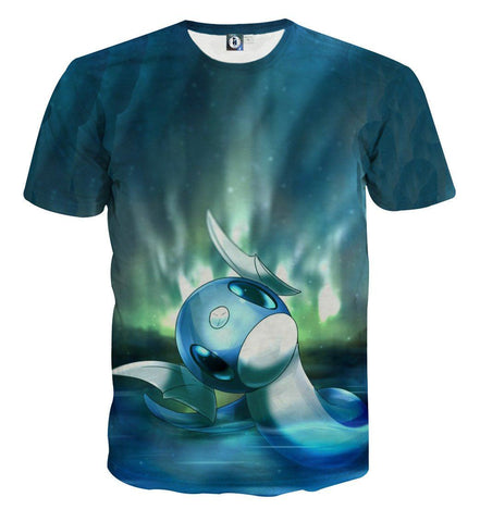 Pokemon Dragonnair Water Legendary Pokemon Cool Vibe Design T-Shirt