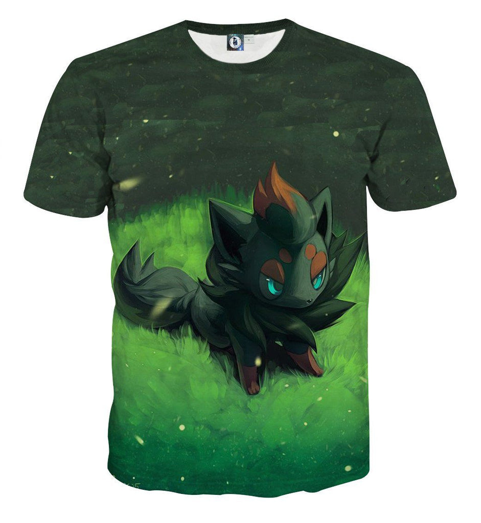 Pokemon Eevee Grass Evolution Leafeon Cute Vibrant Style 3D T-Shirt