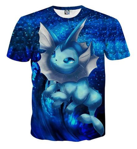Pokemon Eevee Water Evolution Vaporeon Cute Vibrant Style T-Shirt