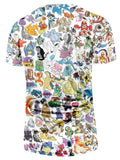Pokemon GO All Species Pikachu Simple Design Dope Streetwear T-Shirt