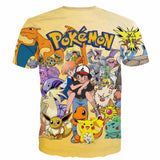 Pokemon GO Ash Carrying Misty Gentle Types of Pokemon Characters  T-shirt - Konoha Stuff - 2