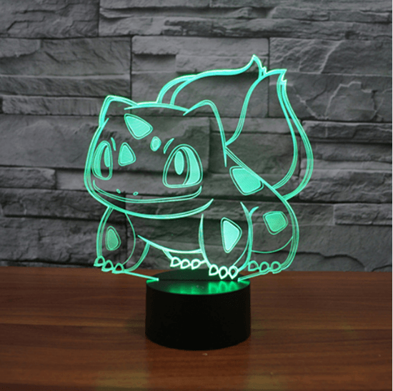 Pokemon GO Bulbasaur Floral Creature Color Changing 3D Illusion Acrylic Lamp - Konoha Stuff
