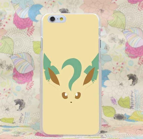 Pokemon GO Eevee Leafeon Evolution Style iPhone 4 5 6 7 Plus Case
