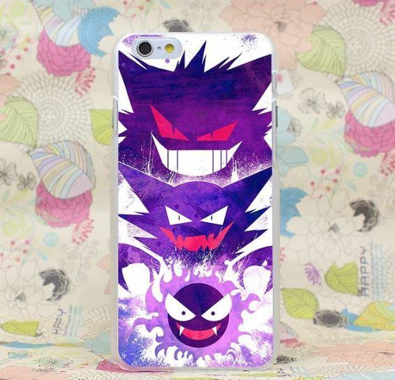 Pokemon GO Gastly All Evolutions Design Style iPhone 4 5 6 7 Plus Case