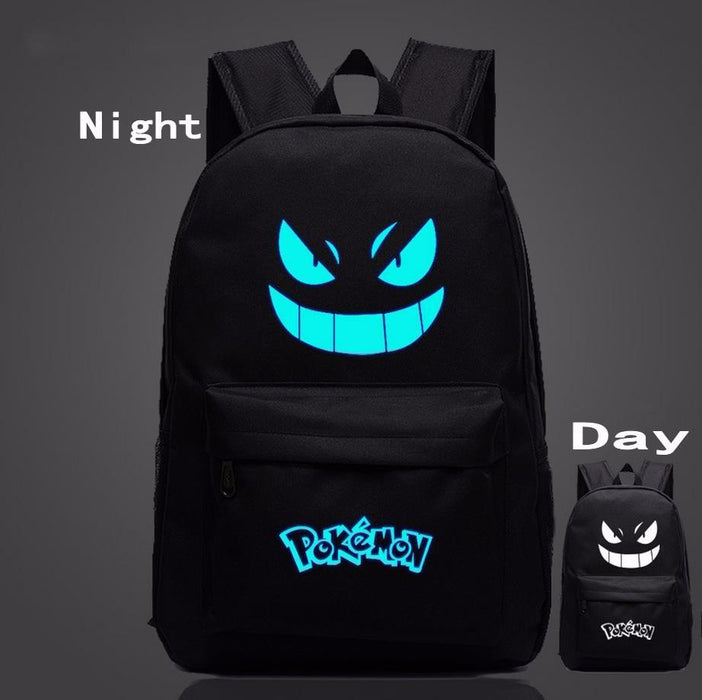 Pokemon GO Gengar Poison Type Black Shade School Bag Backpack - Konoha Stuff - 1