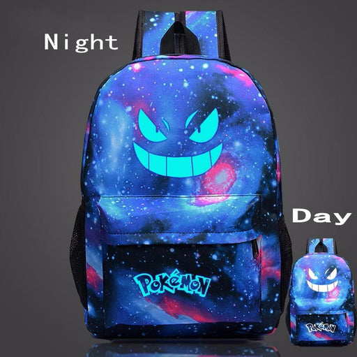 Pokemon GO Gengar Poison Type Luminous Galaxy School Bag Backpack - Konoha Stuff