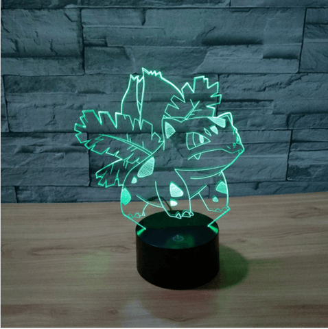 Pokemon GO Ivysaur Evolution Floral Color Changing 3D Illusion Acrylic Lamp