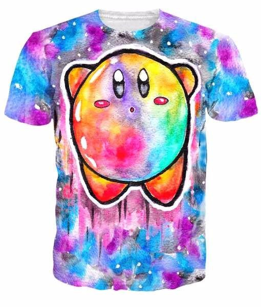 Pokemon GO Kirby Copy Abilities Cute Art Colorful Anime Game T-shirt - Konoha Stuff