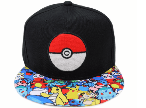 Pokemon GO Pikachu Charmander Trainers Ball  Hip Hop Hat Cap Snapback - Konoha Stuff - 1