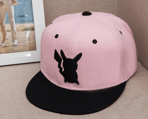 Pokemon GO Pikachu Embroidery Cool Pink Hip Hop Hat Cap Snapback - Konoha Stuff