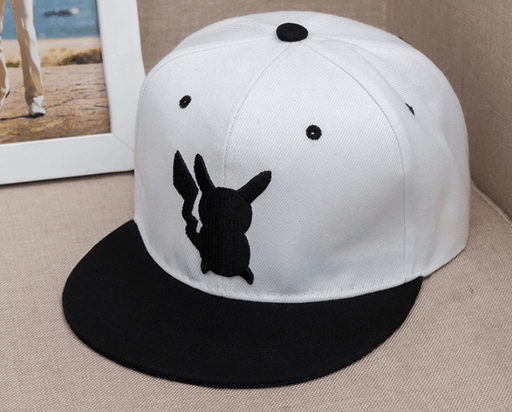 Pokemon GO Pikachu Embroidery Cool White Hip Hop Hat Cap Snapback - Konoha Stuff