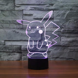 Pokemon GO Pikachu LED 7 Color Changing Night Cute Lamp - Konoha Stuff - 1