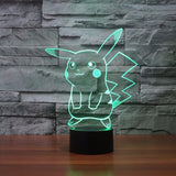 Pokemon GO Pikachu LED 7 Color Changing Night Cute Lamp - Konoha Stuff - 3
