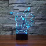 Pokemon GO Pikachu LED 7 Color Changing Night Cute Lamp - Konoha Stuff - 5