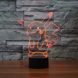 Pokemon GO Pikachu LED 7 Color Changing Night Cute Lamp - Konoha Stuff - 6