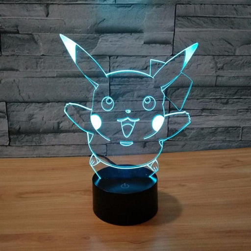 Pokemon GO Pikachu Smile LED 7 Color Changing Night Cute Lamp - Konoha Stuff