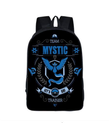 Pokemon GO Team Mystic Trainer Symbol School Bag Backpack