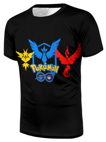 Pokemon GO Teams Logo Simple Style Trendy Stylish Streetwear T-Shirt
