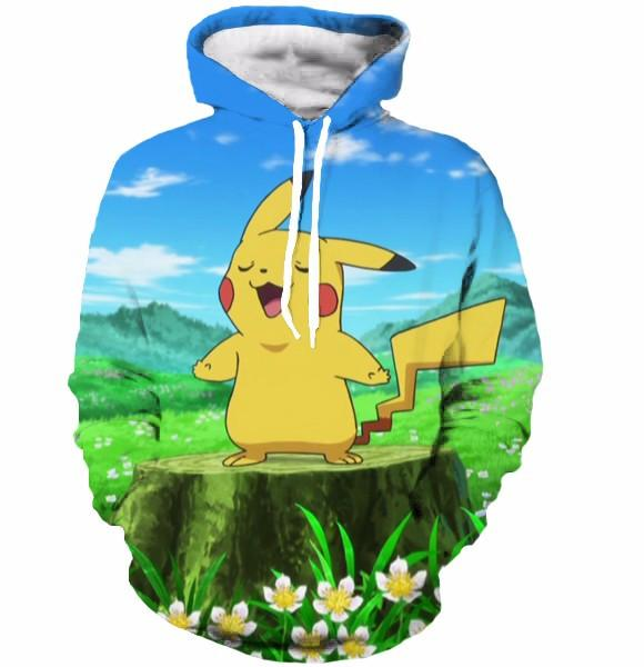 Pokemon Go Cute Pikachu Singing Ridiculously Ketchup Song Hoodie - Konoha Stuff